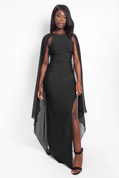 Cindy Black Bandage Maxi Dress - IvyEkongFashion