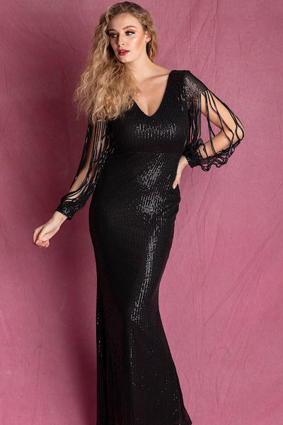 BESS BLACK SEQUIN MAXI DRESS - IvyEkongFashion