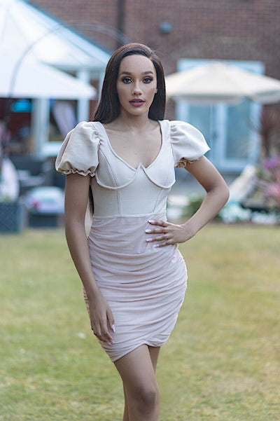 Harriet Nude Bandage Dress - IvyEkongFashion