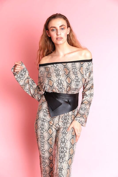 JULIA PRINT OFF SHOULDER JUMPSUIT - IvyEkongFashion