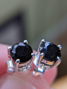 Black Onyx Sterling Silver earrings - TasselRue