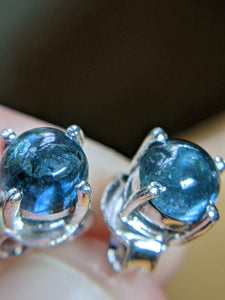 Indicolite (Blue Tourmaline) Sterling Silver Earrings - TasselRue