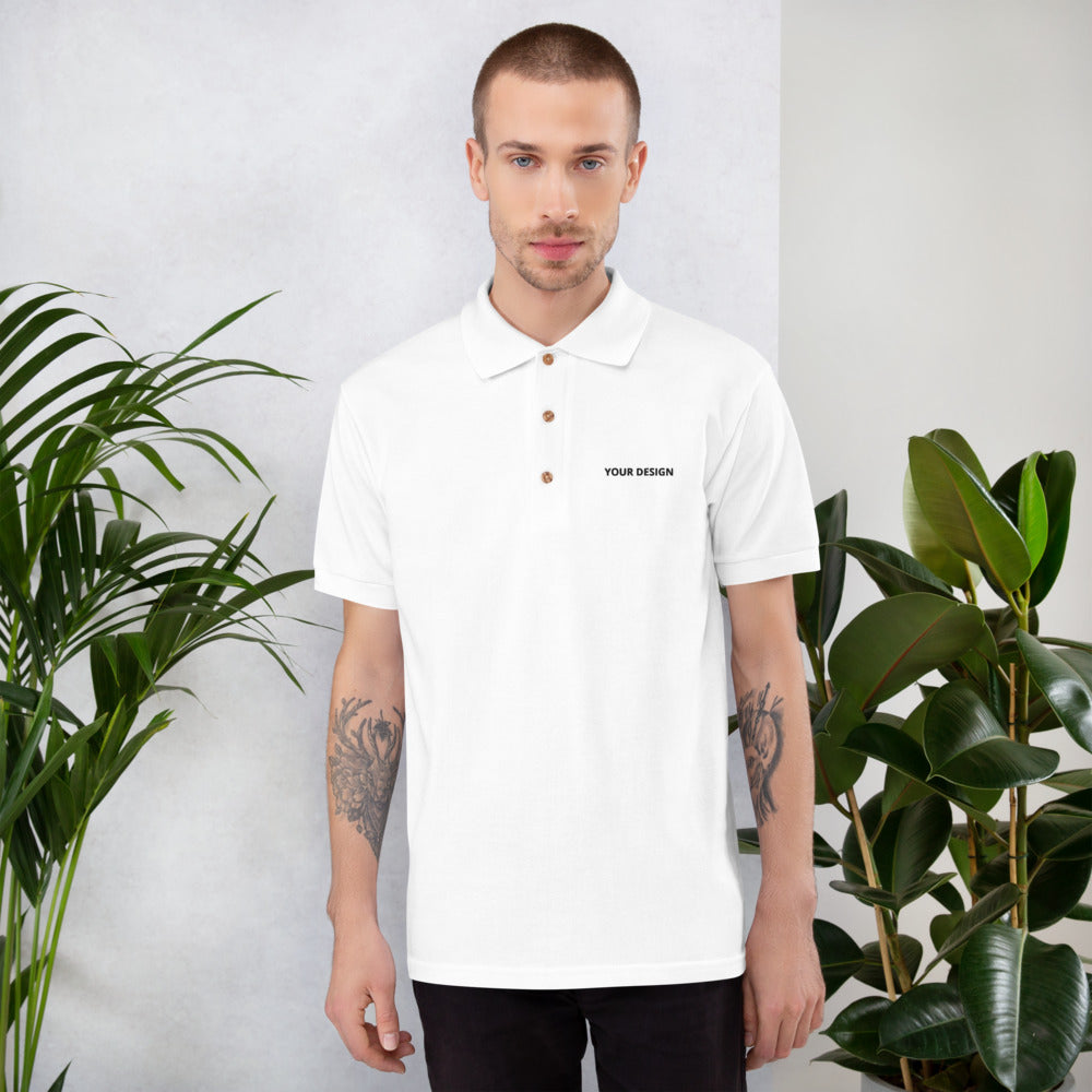 Customizable Embroidered Polo Shirt - tie-dyeathome