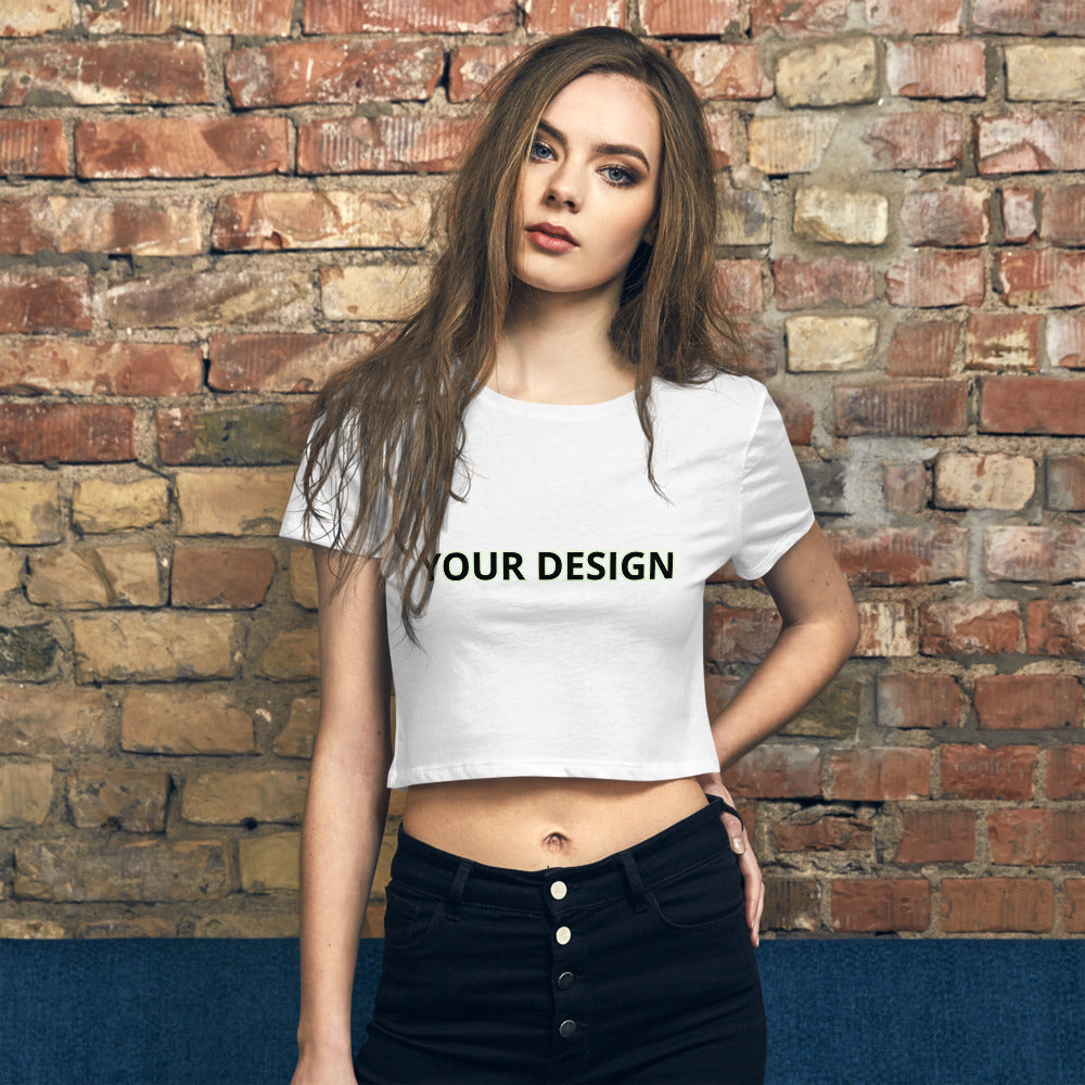Customizable Women's Crop Tee - tie-dyeathome