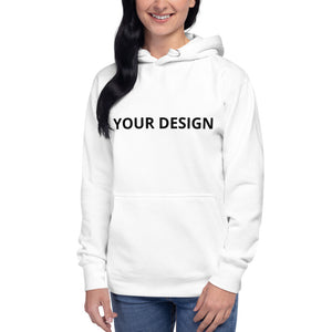 Women's White Hoodie with Loop - tie-dyeathome