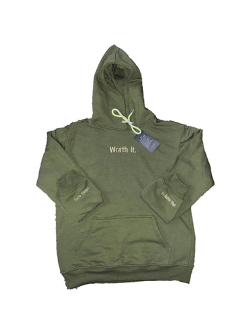 Olive Worth It Hoodie