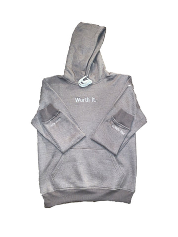 Grey Worth It Hoodie