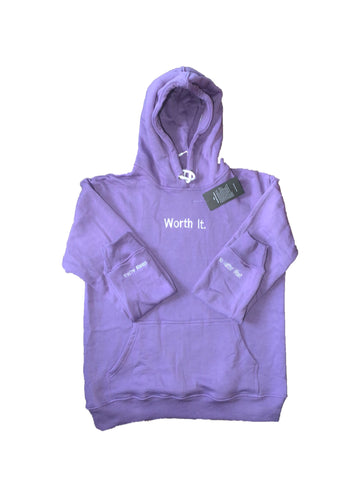 Lavender Worth It Hoodie