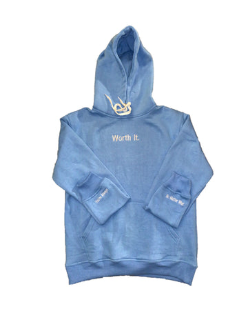 Blue Worth It Hoodie