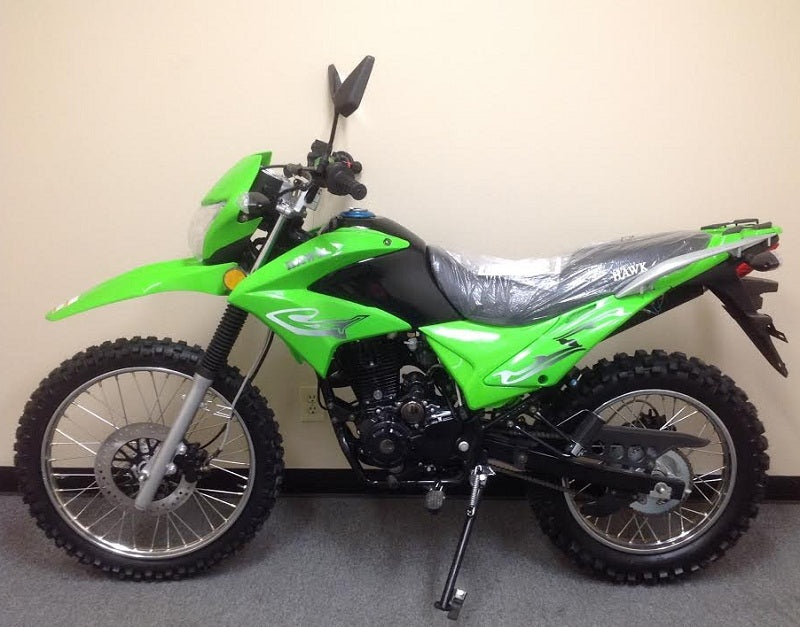 RPS Hawk Enduro 250cc Dirt Bike 5-Speed Manual And Electric/Kick Start, Big Wheel - Power Dirt Bikes