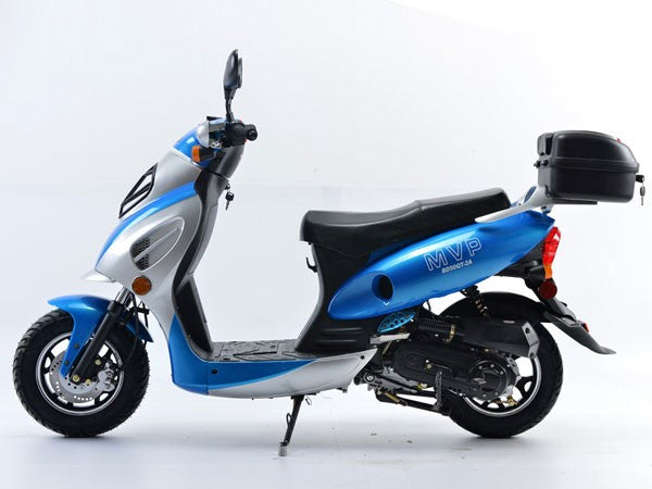 Boom 50cc Moped Scooter BD50QT-2A With 10'' Alloy Wheels with Rear Trunk - Power Dirt Bikes