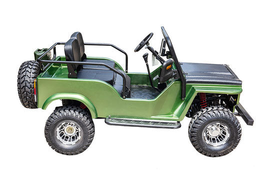The General Gas Army Mini Jeep Willy's 125cc Kids Go Kart - Power Dirt Bikes