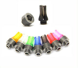 Flat Acrylic 510 Drip Tip with Stainless Steel Heat sink