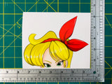 Blonde Launch Anime Peeker Decal