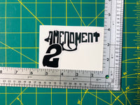 2nd Amendment Hand Gun Decal