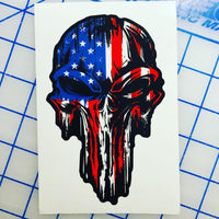 Punisher American Flag Decal