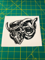 Turbo Skull Decal