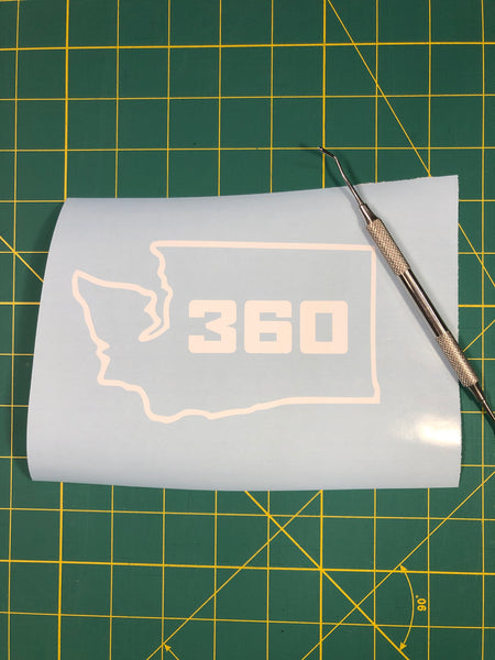 Washington Area Code Decal