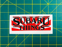 Subaru Things Rising Sun Decal