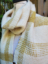 Load image into Gallery viewer, Handwoven and Hand Dyed White Scarf