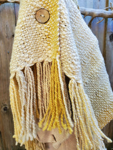 Handwoven Pure Wool Small Poncho