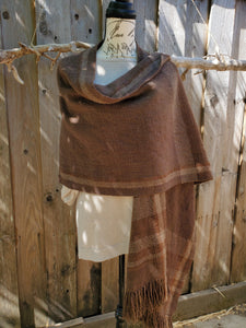 Handwoven Brown Ruana
