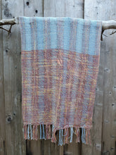 Load image into Gallery viewer, Handwoven Cotton Versatile Poncho in Blue and Red