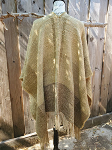 Handwoven Green Ruana