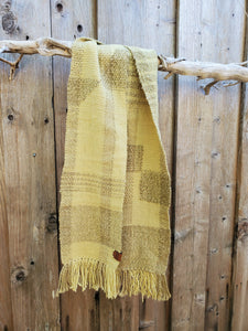 Handwoven and Hand Dyed Green Scarf