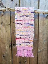 Load image into Gallery viewer, Handwoven Pink and White Cowl