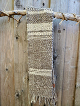 Load image into Gallery viewer, Handwoven and Hand Spun Scarf in Natural Colors