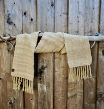 Load image into Gallery viewer, Handwoven and Hand Dyed Cream and Rose Scarf