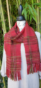 Handwoven Jolly Red Scarf