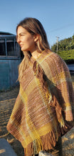 Load image into Gallery viewer, Handwoven Pure Wool Poncho in Earthy Colors