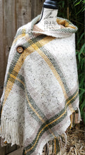 Load image into Gallery viewer, Handwoven Beige Shawl, with Yellow and Green Details