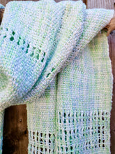 Load image into Gallery viewer, Handwoven Aqua Green Cotton Shawl