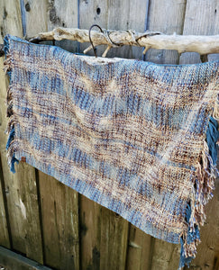 Handwoven Cotton Ponchito in Earthy tones