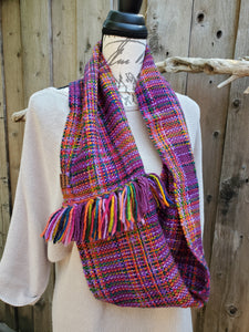 Handwoven Colorful Cowl