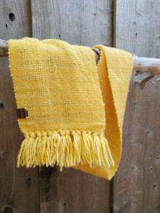 Handwoven Yellow Cowl