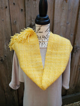 Load image into Gallery viewer, Handwoven Yellow Cowl