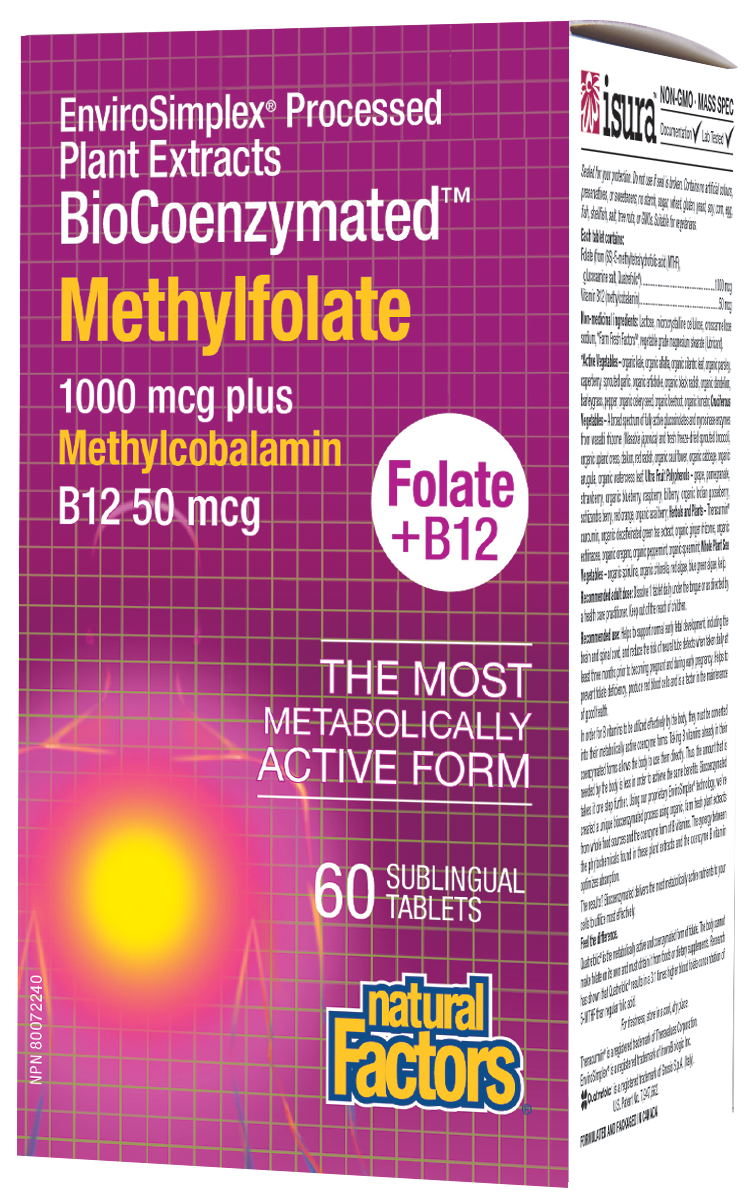 BioCoenzymated Methylfolate 60 tablets