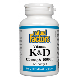 Vitamin K and D 120 softgels