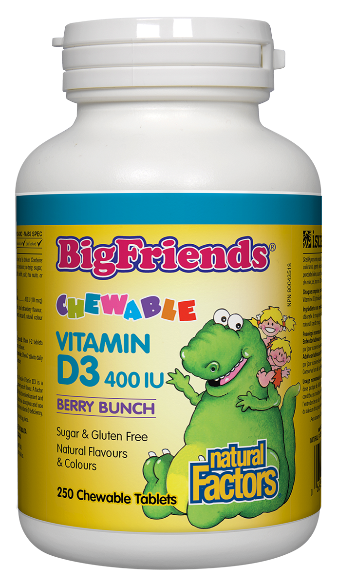 Big Friends Vitamin D3 400IU 250 chewable