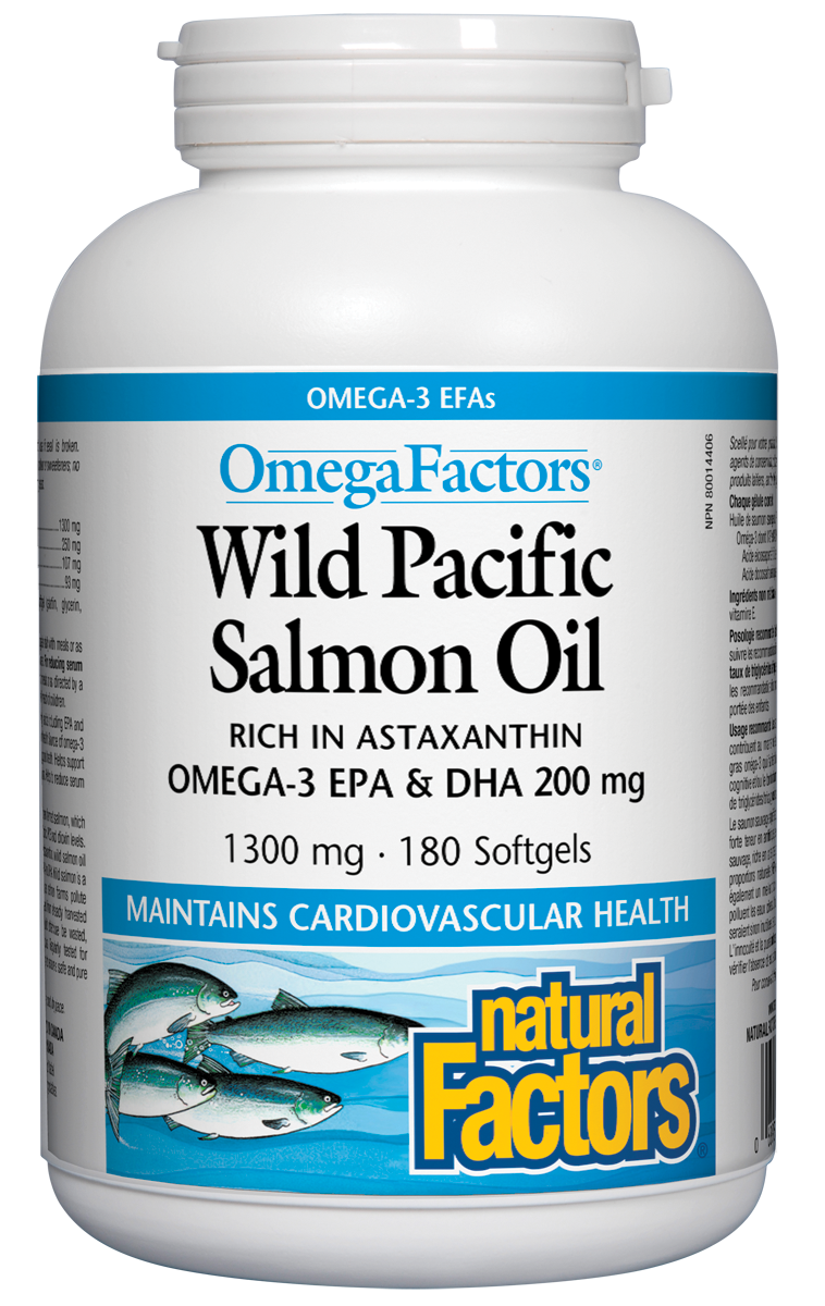 Wild Pacific Salmon Oil 180 softgels