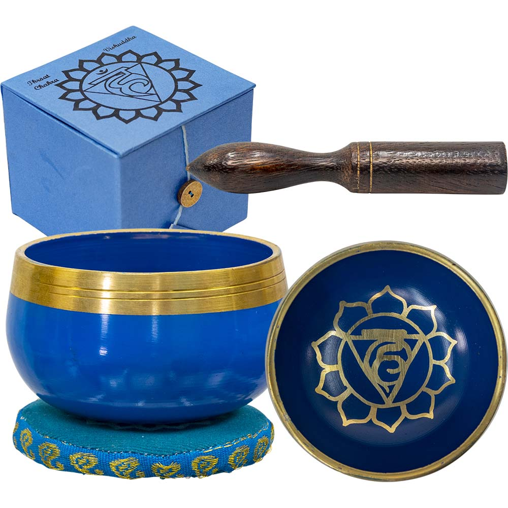 Singing Bowl Mini Throat Chakra Blue