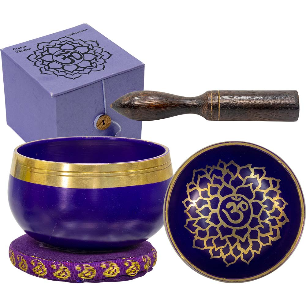 Singing Bowl Mini Crown Chakra Violet