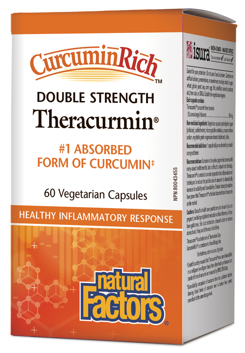 CurcuminRich Double Strength Theracurmin 60 capsules