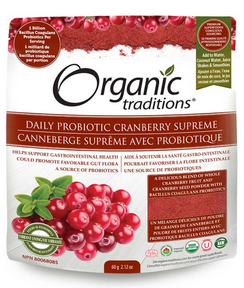 Organic Traditions Daily Probiotic Cranberry Supreme 60g