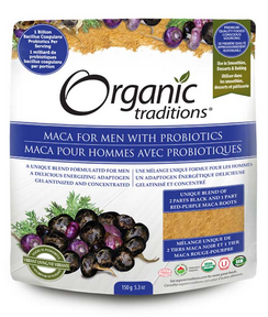 Organic Traditions MACA for Men with Probiotic 150g