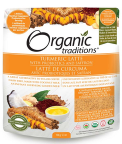 Organic Traditions Turmeric Latte with Saffron and Probiotics 150g